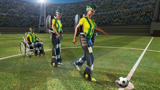 A ilustração usada pelo projeto Andar de Novo para de divulgação do evento na Copa