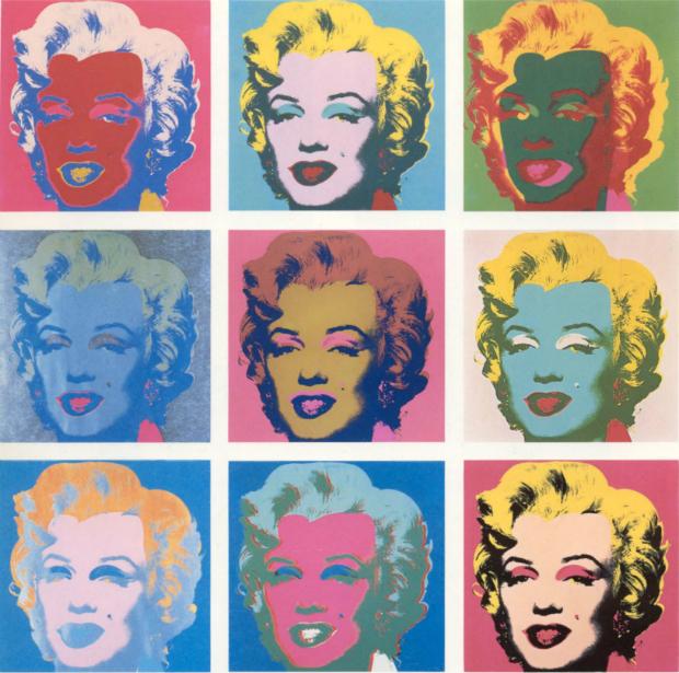 Marilyn Monroe, por Andy Wharhol