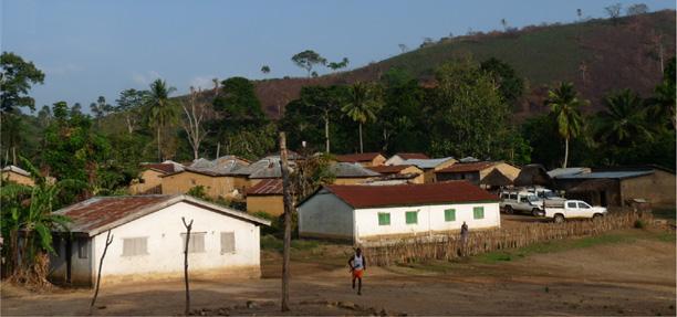 A vila de Meliandou, na Guiné, marco zero da epidemia de ebola (Foto: Saez et al./EMBO Molecular Medicine)